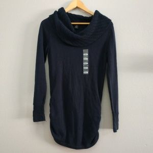 🆕 Blue Cowl Neck Tunic Knit Sweater Top Calvin